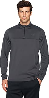 Amazon Brand - Peak Velocity Men's Quantum Fleece 1/4 Zip Athletic-Fit Top