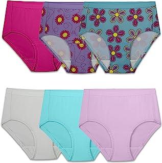 Fruit Of The Loom girls Microfiber Underwear Multipack Briefs