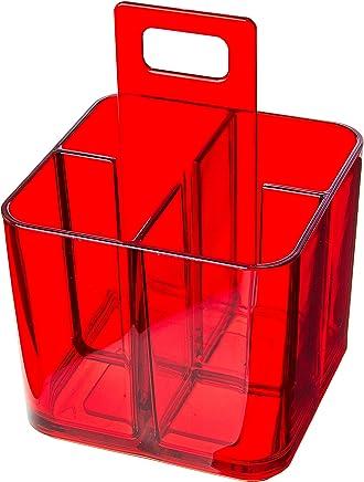 Porta Talheres Mod Coza Vermelho Transparente 1 Ps