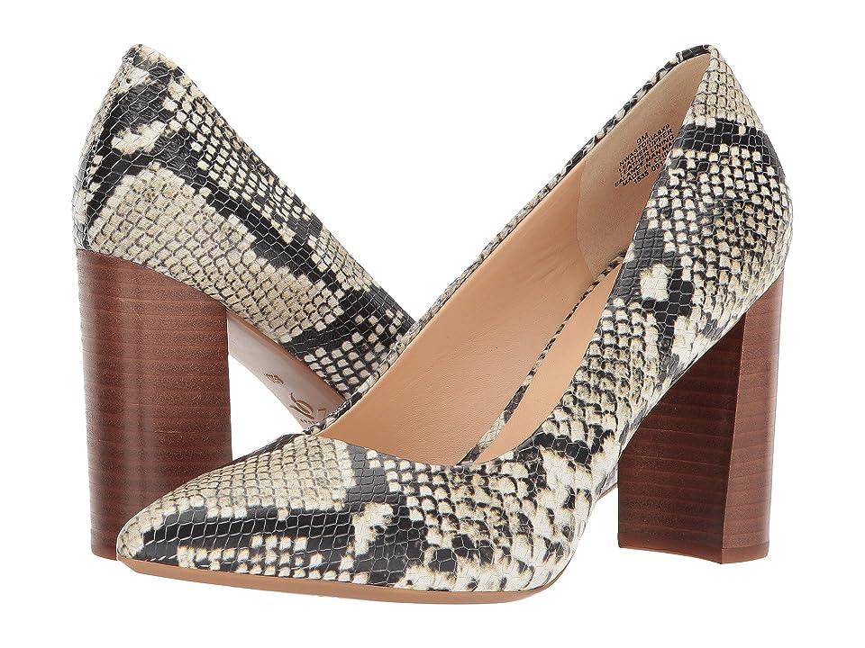 Nine West Astoria Block Heel Pump (Roccia Embossed Classic Snake) High Heels