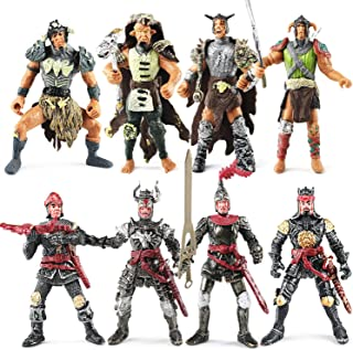 Bvrorere Knight and Orcs Warriors Action Figures Toys Soldiers Playset with Military Weapons Accessories for Kids Boys Gir...