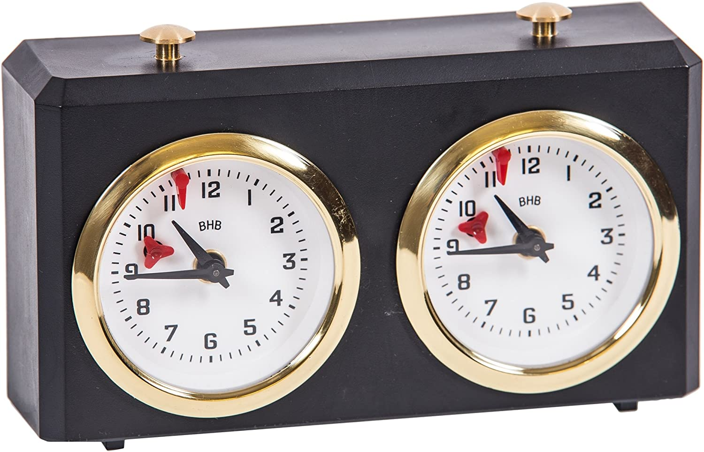 Chess Clock  SQUARE by BHB Classic  Black  Chess Timer