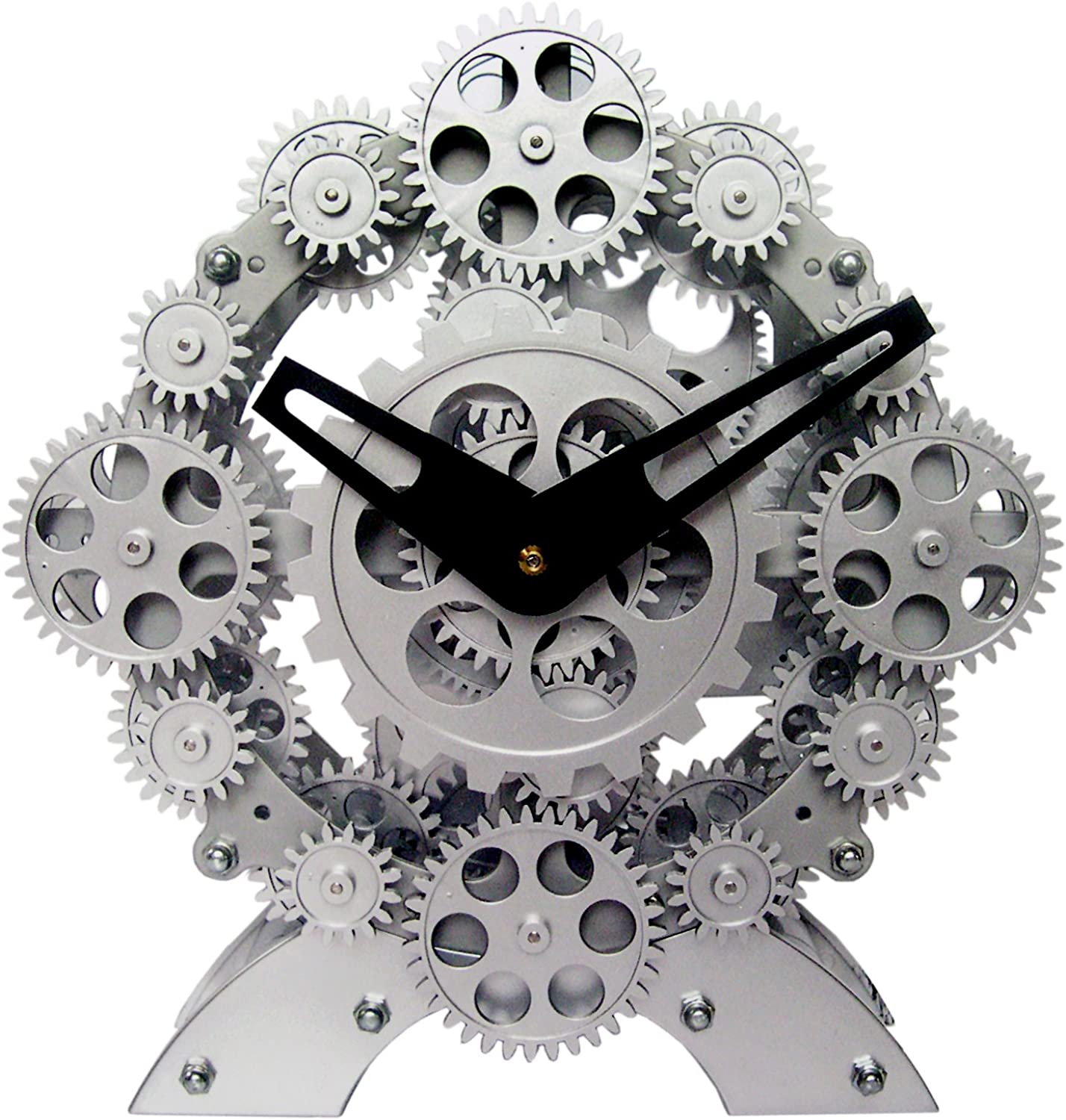 Maple's Moving Gear Table Clock, Numerous Gears