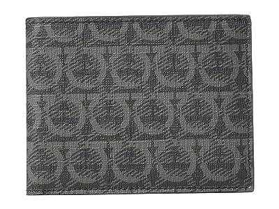 Salvatore Ferragamo Travel Bifold Wallet (Black/Grey) Wallet Handbags