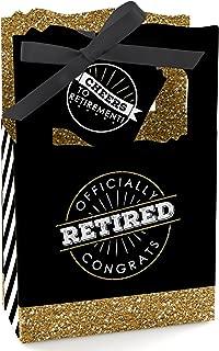 Happy Retirement - Retirement Party Favor Boxes - Set of 12