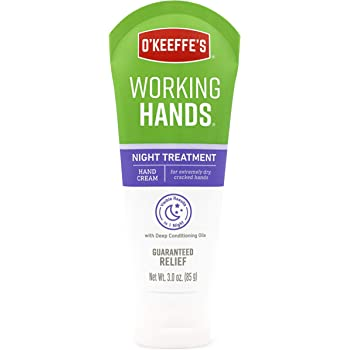 O'Keeffe's Night Treatment Hand Cream, 3 Ounce Tube, White