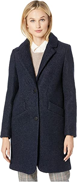 Paige Pressed Boucle Two-Button Notch Collar