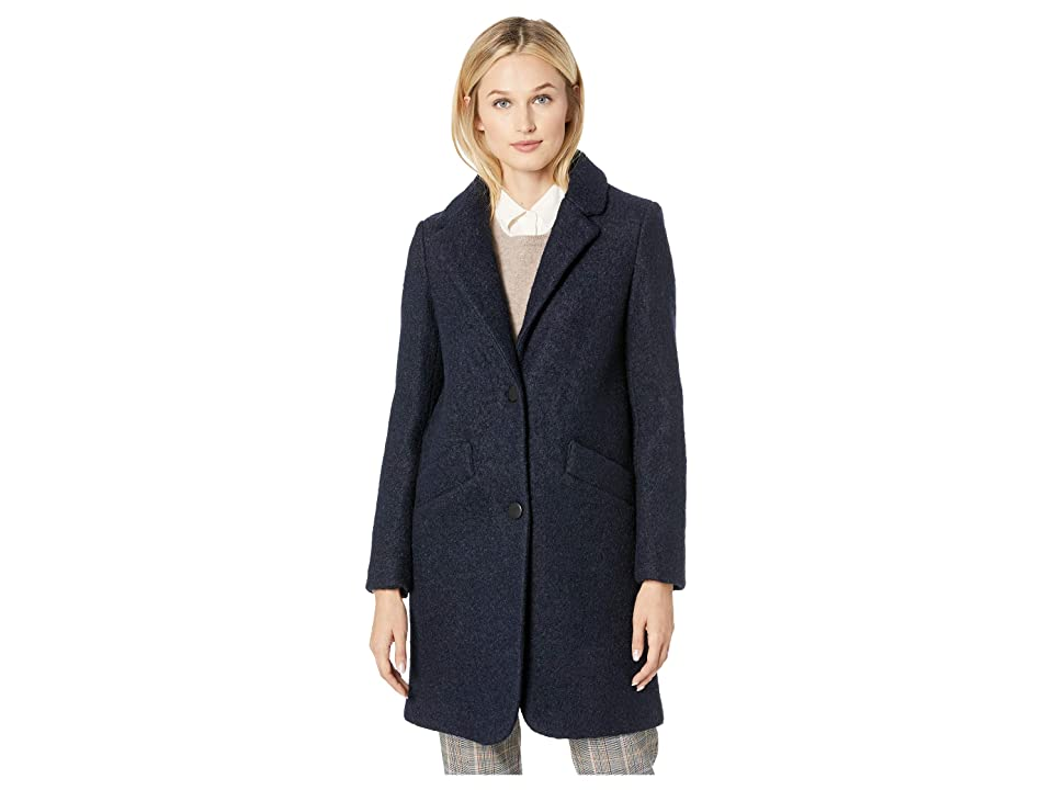 Marc New York by Andrew Marc Paige Pressed Boucle Two-Button Notch Collar (Ink) Women