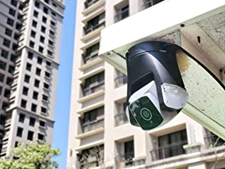Amaryllo Ares: Biometric Auto Tracking Outdoor PTZ Wi-Fi Ethernet Security Camera w/Face Recognition, Support Fire Warnin...