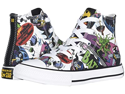 Converse Kids Chuck Taylor(r) All Star(r) Hi Batman (Little Kid) (White/Black/Multi) Kids Shoes