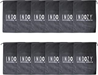 Indozy Shoe Pouch/Bag/Organiser/Black/Set of 12