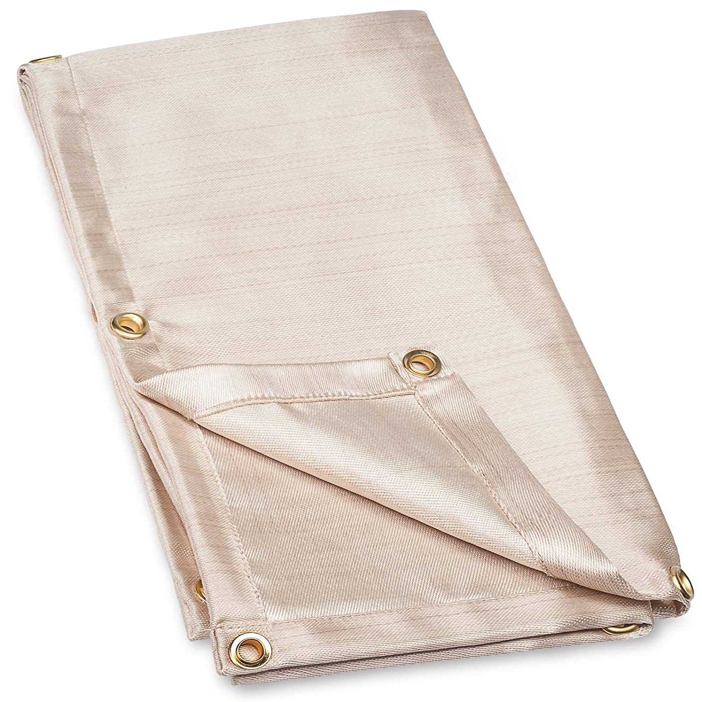 Neiko 10908A Fiberglass Welding Blanket and Cover, 4' x 6' | Brass Grommets For Easy Hanging and Protection