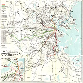 Gifts Delight Laminated 24x24 Poster: 1967 MBTA System map