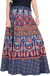 Rajvila Rajasthani Jaipuri Print Skirt for Women Comfortable Skirt for Women (F_W40NT_0005)