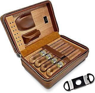 Huxley Cigars Portable Travel Case Humidor with Cedar Wood Interior + Cutter