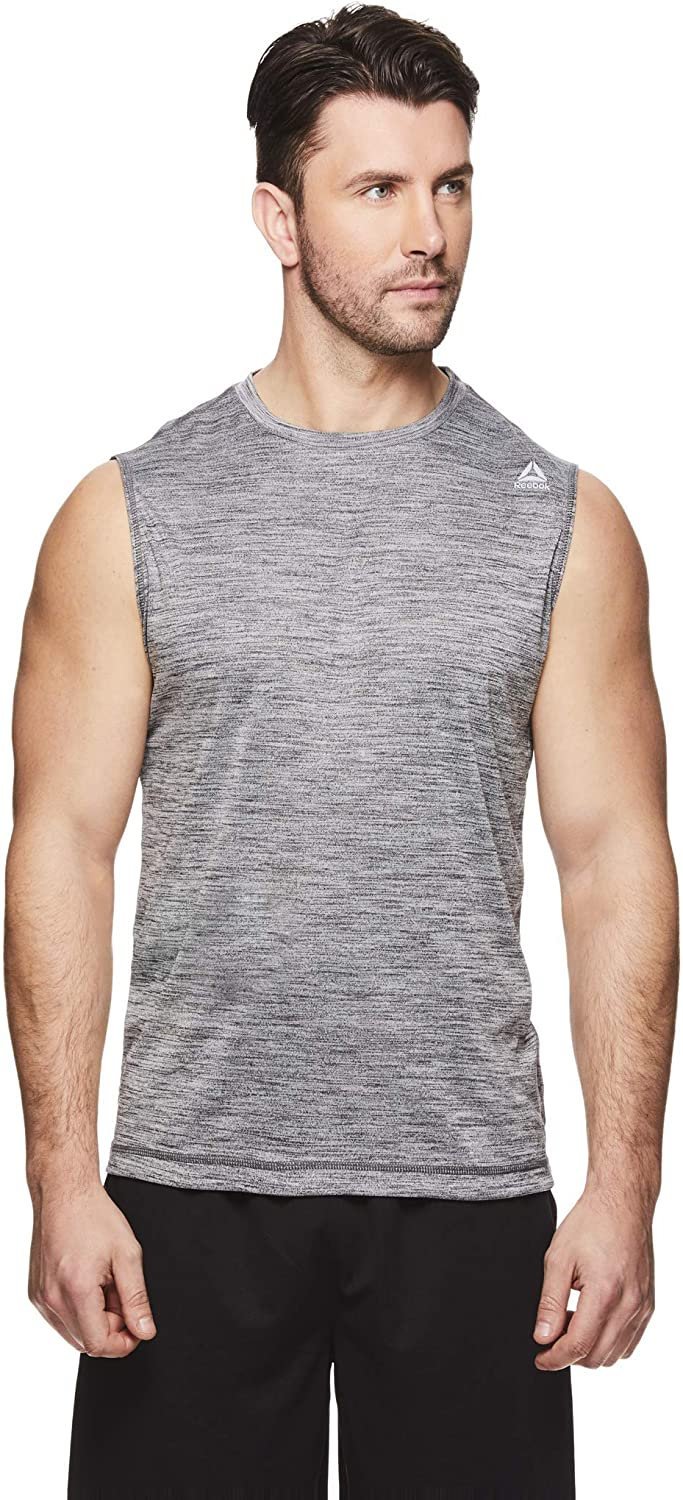 Reebok Men's sold out Muscle Tank Top 100% quality warranty! Sleeveless Training - Act Workout