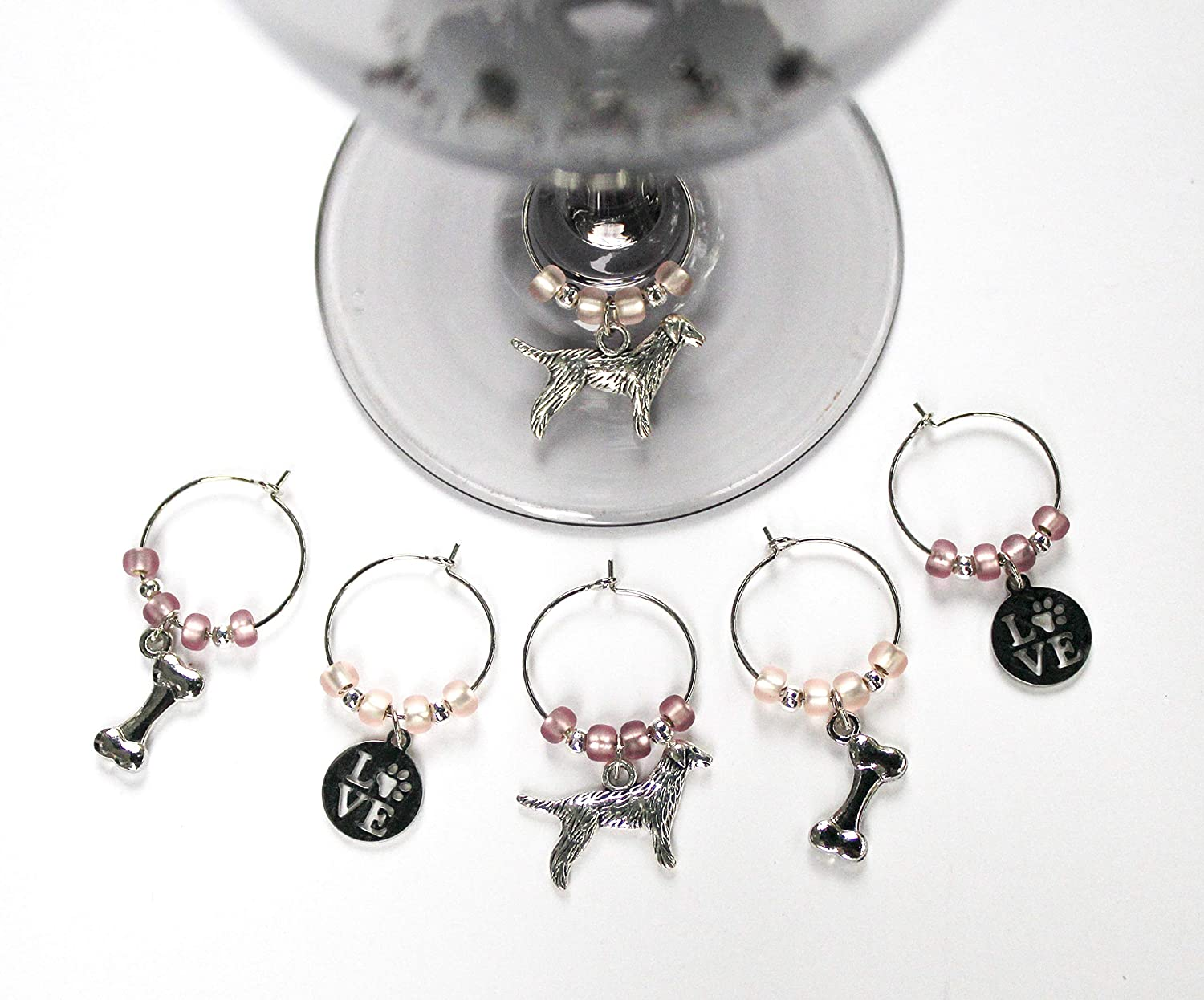 Branded goods Golden Retriever-Dog-Wine At the price Glass of 6-GOLDENTHM001-6 Charms-Set