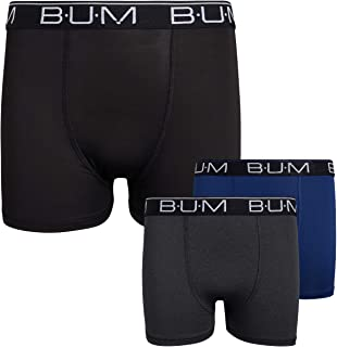 B.U.M. Equipment Boy`s Performance Dry-Fit Compression Boxer Briefs (3 Pack) (Sizes 4-10)