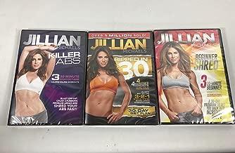 3 Pack DVD set Jillian Michaels Killer Abs, Beginners Shred, Ripped In 30