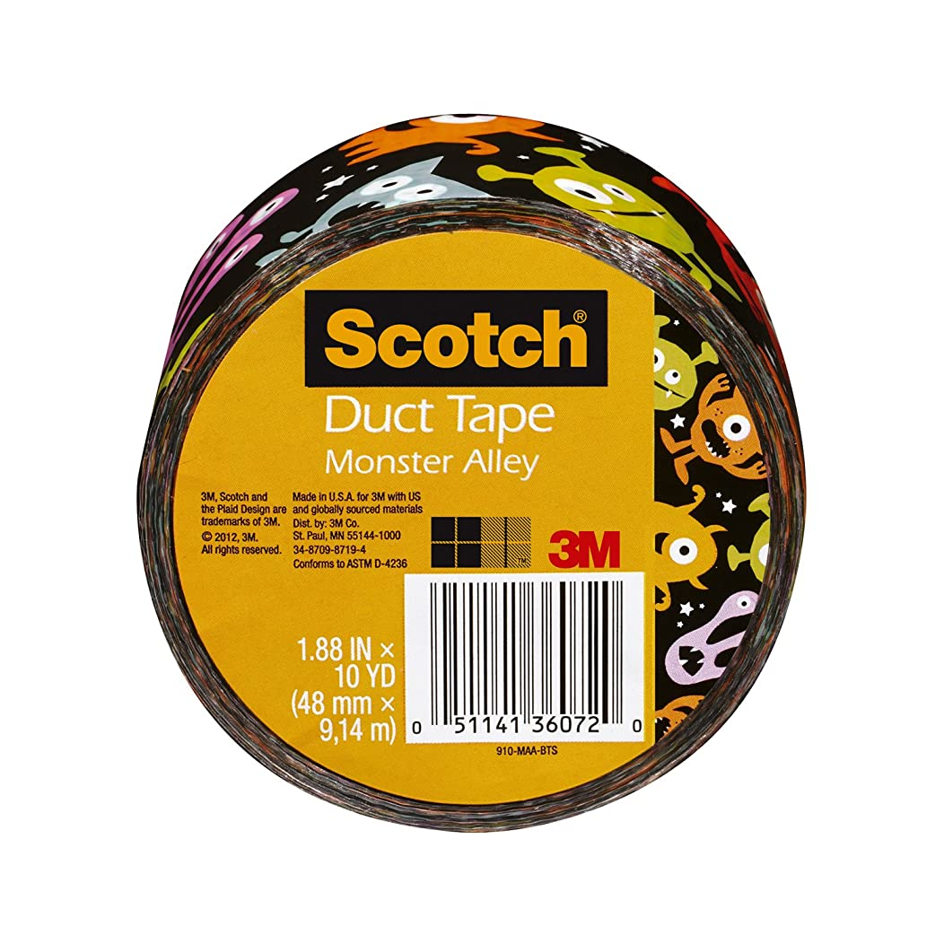 Scotch Duct Tape, Monster Alley, 1.88-Inch by 10-Yard