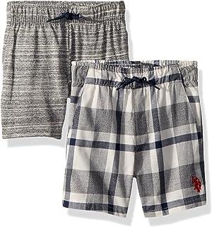 U.S. Polo Assn. Paquete de 2 Pantalones Cortos para niños