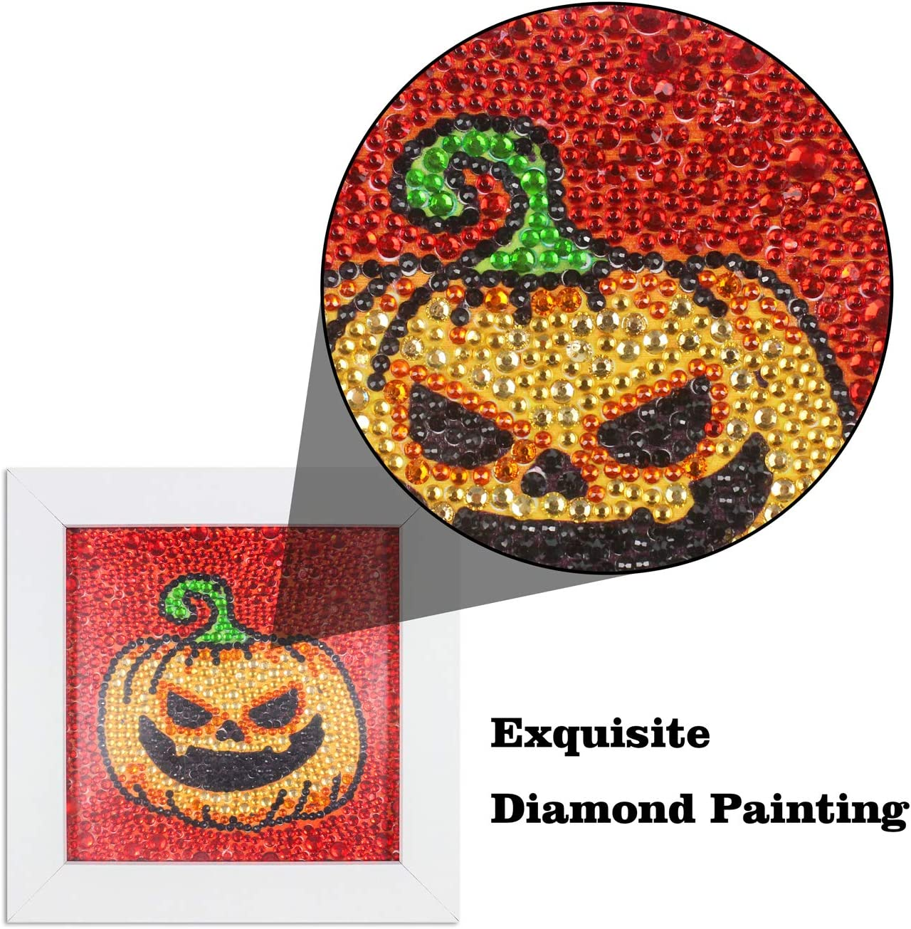Cat DIY 5D Diamond Painting Kits for Kids with Frame 6x6inches Full Drill Embroidery Crafts for Home Wall Decor