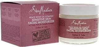 Shea Moisture Peace Rose Oil Complex Sensitive Skin Facial Moisturizer for Unisex, 2 Ounce