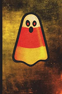 Candy Corn Ghost: 6 X 9 128 Pages: Cute Candy Corn Ghost Halloween Design on Soft Matte Cover Notebook, Diary, Composition...