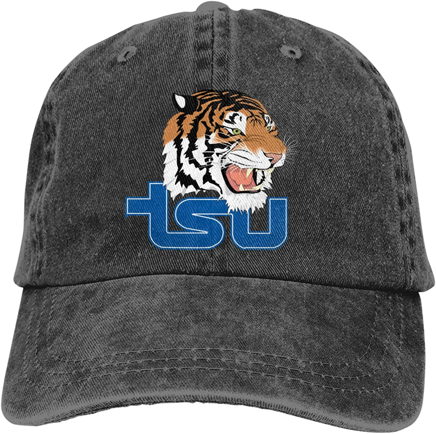 RUIHGK Tennessee State Tigers Denim Cap Adjustable Casquettes Baseball Cowboy Hat