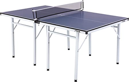 STIGA Space Saver - Mid-Size Portable Table Tennis Table - Compact Storage Fits in Most Closets – Includes Ping-Pong Net & Post - No Assembly Required