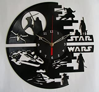 Star War Vinyl Record Designed Wall Clock, Unique Home Room Wall Decor, Best gift for Him or Her, Girlfriend or Boyfriend ...