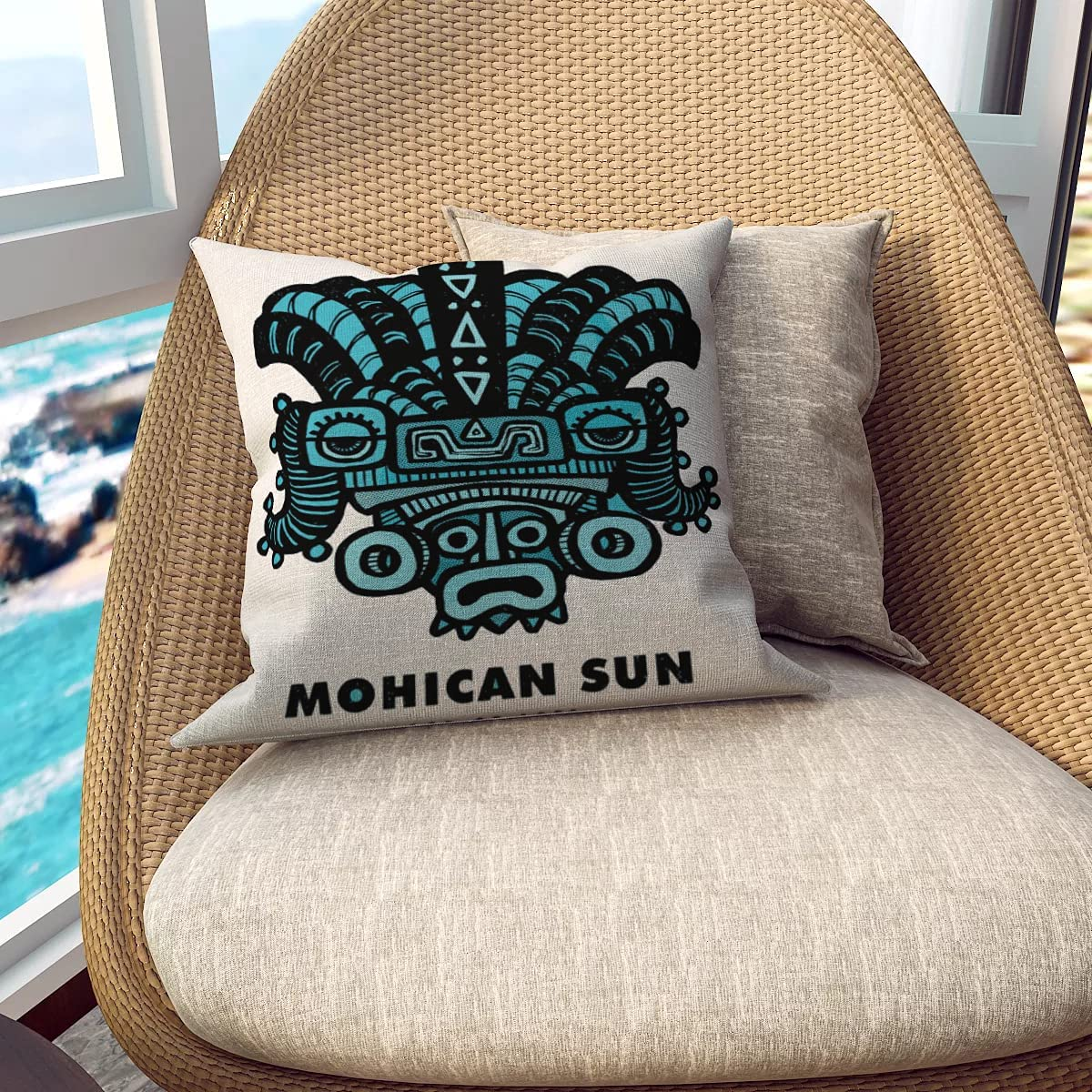 Mohican Sun Limited time for free shipping god of Finally popular brand Ages Printing Pillowcase Single-Sided Flax