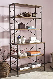 Safavieh American Homes Collection Devon Walnut and Antiqued Pewter Etagere