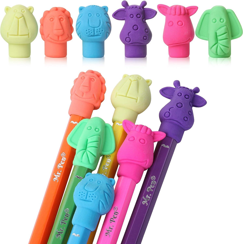 Rapid rise Courier shipping free Mr. Pen- Erasers Cap 60 Eras Animal Eraser Caps Pack