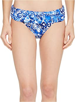 Playa Floral Classic Shirred Banded Hipster Bottom