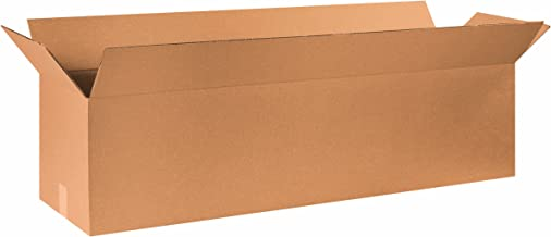 """Aviditi 481212 Long Corrugated Cardboard Box 48"""" L x 12"""" W x 12"""" H, Kraft, for Shipping, Packing and Moving (Pack of 10)"""