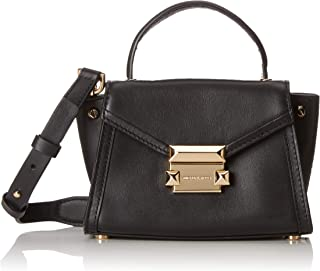 Michael Kors 30T8GXIM1L-001 Whitney Mini Leather Satchel, Black