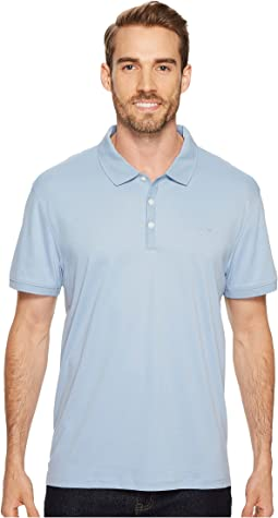 Calvin Klein Liquid Cotton Solid Short Sleeve Polo