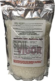 5 Lbs. Soil Vigor (Tm) Super Absorbent Polymer, Moisture Trap for All Plants, Trees, Shrubs, Vegetable , Flower Gardens, and Lawns of All Sizes.