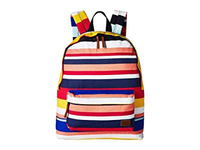 Roxy Sugar Baby Canvas Backpack (Marshmallow La Super Stripe) Backpack Bags