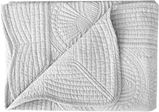 Lullaby Baby Toddler Blankets All Weather Lightweight Embossed Quilt, Grey