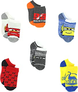Disney Cars 3 Boys 6 pack Socks (Toddler/Little Kid/Big Kid)