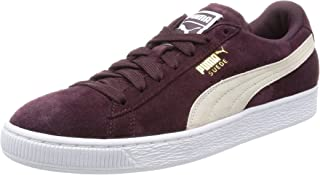 Women's Suede Classic Low-Top Sneakers, Red