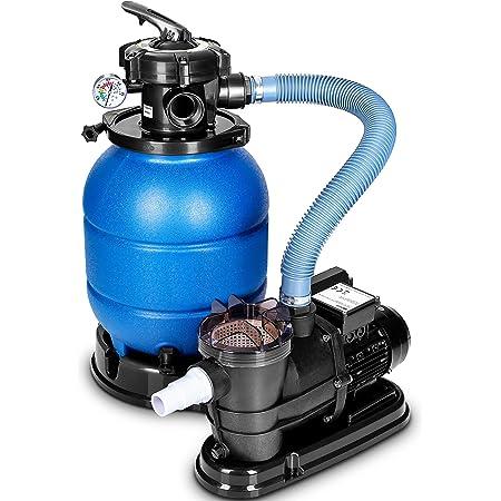 tillvex Système de Filtre à Sable 10 m³/h – 5 Fonctions de Filtration | Filtre de Piscine avec indicateur de pression | Filtre à sable pour les bassins aquatiques et les piscines
