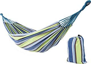 SUNCREAT 12ft Double Brazilian Wide Hammock Cotton Fabric Travel Camping Hammock with 2 Person for Indoor or Outdoor-Oasis