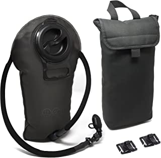 Diaz Sport 3L Hydration Pack Water Bladder Reservoir - Includes Insulated Cooler Bag & Free Clips to Hold Drinking Tube - Tasteless, Leakproof, TPU, BPA-Free, Quick Release & Shutoff Valve