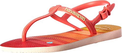 Havaianas Kids' Flip Flop Sandals, Freedom SL Print Pearl Pink, (Toddler/Little Kid)
