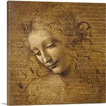 ARTCANVAS Female Head - Head and Shoulders of a Woman 1505 Canvas Art Print by Leonardo da Vinci - 18