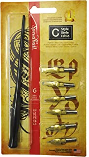 Speedball Art Products C Style Lettering Pen Set, Black