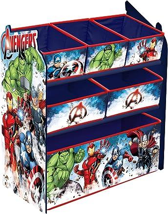 URBN Toys Organiseur En Bois 6 Tiroirs Disney U0026 U203fMarvel 62 X 30 X 60